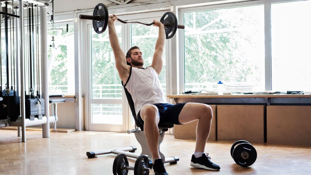 bench with leg extension